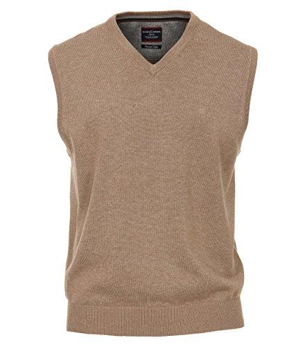 CASAMODA Herren Pullunder Unifarben 004160 Langstapelige Baumwolle 100% Baumwolle
