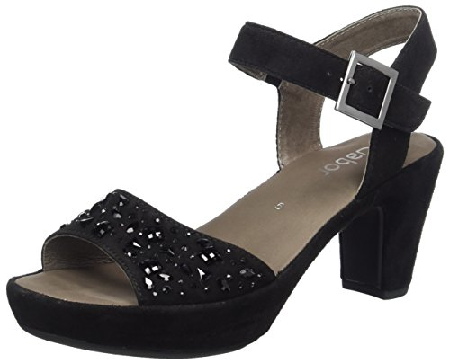Gabor Shoes Damen Fashion Plateau, Schwarz (Schwarz (Strass) 17), 38 EU