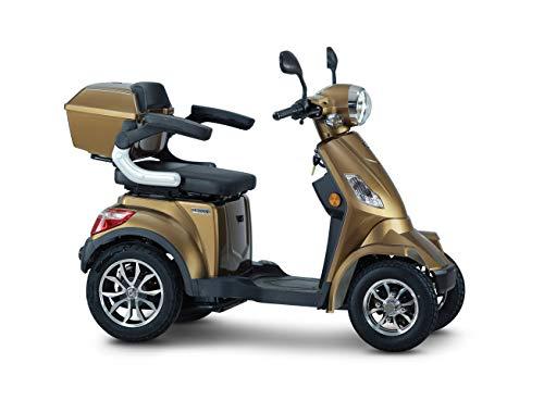 ECONELO J4000 - Seniorenmobil - 4 Rad Roller - 1000 Watt - USB - Farbe: BRAUN