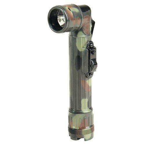 Mil-Tec US LED Winkeltaschenlampe Mittel 17cm Winkel-Taschenlampe Lampe Leuchte verschiedene Farben (Flecktarn)