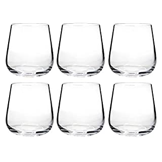 Crystal Wine & Beer Tumblers, 6 Piece Set - Bohemia Crystal - Ardea Range (320ml)
