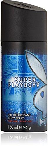 Playboy Super men Deo Body Spray 150 ml, 1er Pack (1 x 150 ml)