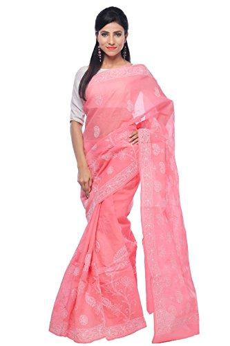 Bds Chikan Cotton Saree (Bds00393_Gajari)