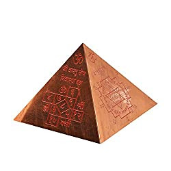 7ocean Vastu Yantra Pyramid (Copper Color),(9.5*11*11 cm)