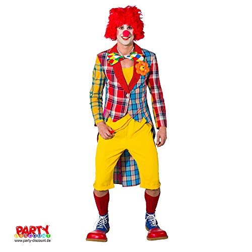 PARTY DISCOUNT ® Herren-Kostüm Frack Patchwork Clown, Gr. 56-58