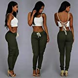 ZEELIY Pantalon Femmes,Pantalon Crayon Extensible Taille Haute Pantalon élastique Extensible Grande Taille Leggings Skinny as Femme Cher Casual Mode Chic Élégant,XXL-XXXXL...