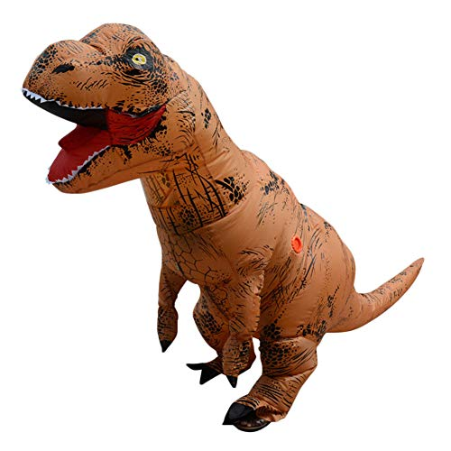 Fernando Guapo 1 Stück Verschiedene Erwachsene/Kinder Aufblasbare Dinosaurier/Santa Claus Kostüm, Cosplay, Tyrannosaurus Rex T-Rex Kostüm, Party-Outfit, 1#, Adult: 168-185cm