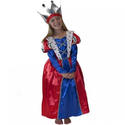 Mädchenkostüm Königin 6 - 8 Jahre (Königliche Hoheit Kostüm)