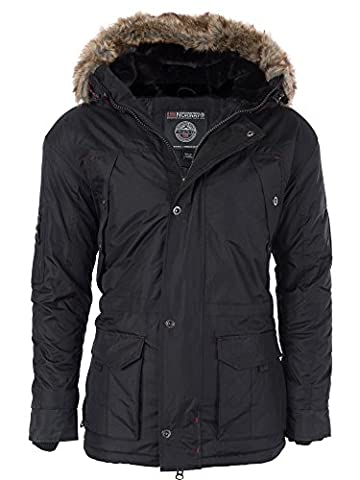 M424 Geographical Norway Herren warme Winterjacke gefütterte Winter Jacke Parka,