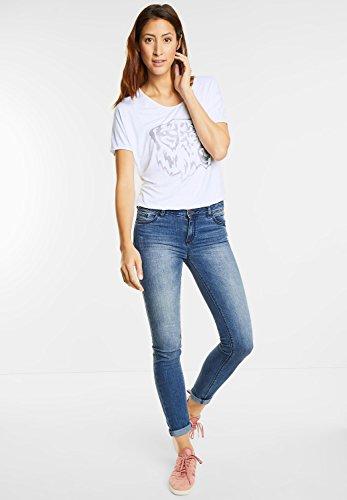 Street One Damen Shirt mit Tiger-Print white (weiss)