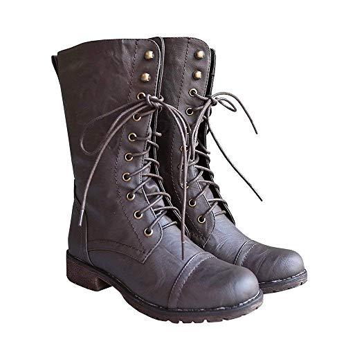 ürschuhe Mittelalter Schuhen Seitenreißverschluss Militär Stiefel ()