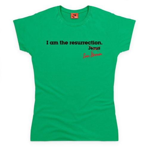 Ian Brown Resurrection Easter T-Shirt, Damen Keltisch-Grn
