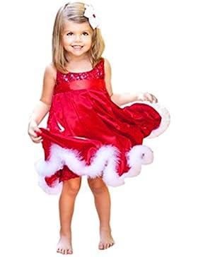 [Patrocinado]Vestidos para niñas, Dragon868 Las niñas del bebé fiesta de Navidad rojo lentejuela vestidos tutú para niños de...
