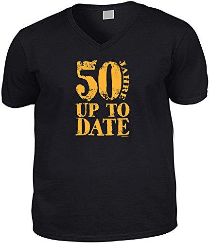 Cooles V-Neck - T-Shirt als Geschenk zum Geburtstag - Schwarz