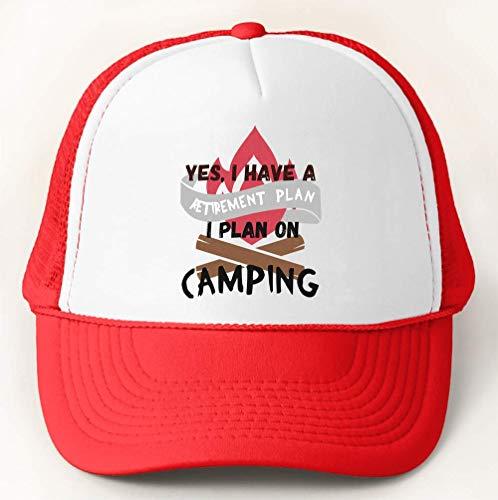 I Have A Retirement Plan I Plan On Camping Keep It Simple Gorra de Béisbol Trucker Hat