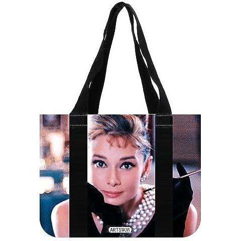 Carcasa Eco ARTSWOW Audrey Hepburn bolsas de reutilizable bolsa para herramientas de lona (2 lados), lona, multicolor5, 12.2