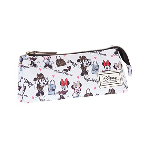 Karactermania Disney-Klassiker Minnie Mode-Tasche, 24 cm, Weiß (Zwei Flache Regal)