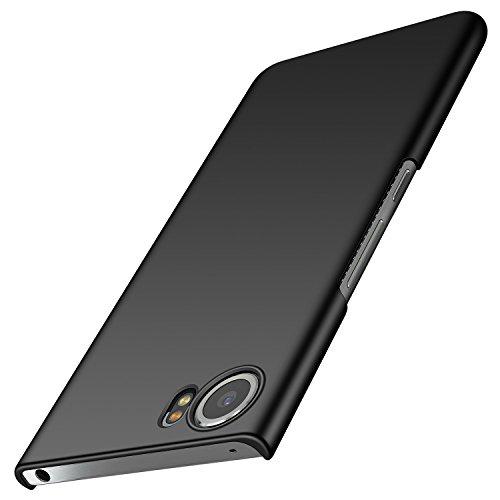 anccer BlackBerry Keyone Hülle, [Serie Matte] Elastische Schockabsorption und Ultra Thin Design für Keyone (Glattes Schwarzes)