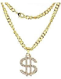 a8d9afed615c Dpolrs Shinning sesión Rhinestone del Dinero de dólar Colgantes de la  aleación Collares Largos para los