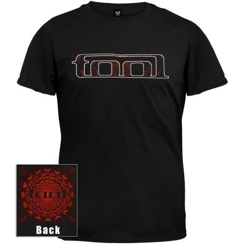 Rock Band Tool t-shirt Rosso eyes pattern 2-sided tee (Large) Nero