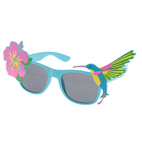 MagiDeal Hawaiian Sonnenbrille Fancy Dress Party Gläser Zubehör - Blumen Vogel, 20 x (Fancy Kinder Lustige Dress)