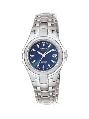 Citizen EW0650-51L - Reloj analógico de cuarzo para mujer, correa de titanio color plateado (solar) de Citizen