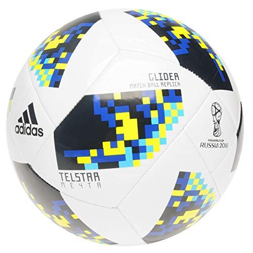adidas Größe 5 World Cup 2018 Ausbildung Professionell Fußball Weiß/Blau/Gelb (5 Fußball Adidas Größe)