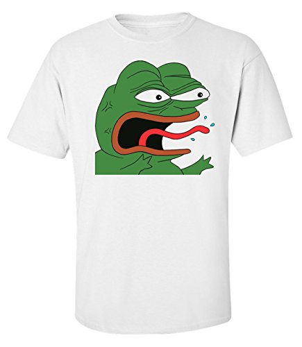 Preisvergleich Produktbild Snake tongue mad angry Pepe Men's T shirt X-Large