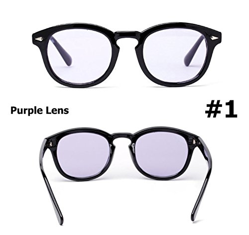 Mode Johnny Depp runde Art Tint Ozean Objektiv Sonnenbrillen Brand Design Partei-Erscheinen Sun Glasses