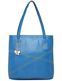 Butterflies Women Handbag (Sky Blue) (BNS 0649SBL)