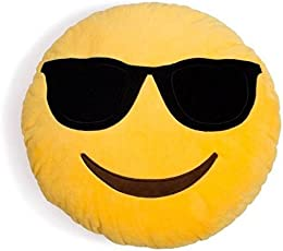 Frantic Premium Quality Cool Dude Soft Smiley Cushion - 35 Cm