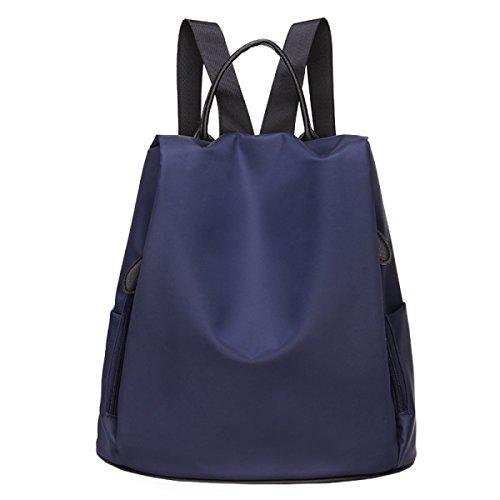 Preisvergleich Produktbild MYLL Rucksack Nylon Schule Daypack Wasserdicht Anti-Theft Rucksack Für Frauen Damen Mädchen College Gym Arbeit Sport,DarkBlue
