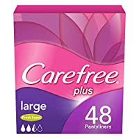 CAREFREE, Panty Liners, Large, Fresh, Pack of 48