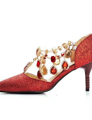 WSS 2016 Chaussures Femme-Mariage / Habillé / Soirée & Evénement-Bleu / Rouge-Talon Aiguille-Talons / D'Orsay & Deux Pièces / Bout Pointu-Talons- blue-us4-4.5 / eu34 / uk2-2.5 / cn33