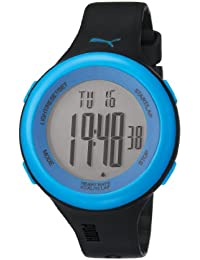 Puma Fit Unisex Digital Watch with LCD Dial Digital Display and Black Plastic or PU Strap