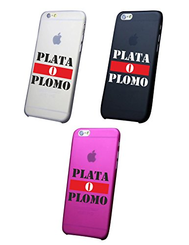 Cover IPHONE X - 8 - 8 PLUS 6 - 6 PLUS - 6S - 6S plus - 7 - 7 plus - PLATA O PLOMO Trasparente VARI COLORI UltraSottili AntiGraffio Antiurto Case Custodia Nero