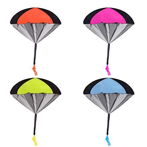 Juguete Paracaídas Lanzar al Aire Libre Soldados Cometas Que Lanzan a Mano Lanzamiento de Mano Juego de Vuelo Juguetes Creativos Niños Niñas Niños Adultos (Paquete de 4)