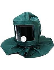 Gesichtsmaske Industriearbeit Schutzschild Strahlen Haube Sand Schleifkorn Schutzhelm