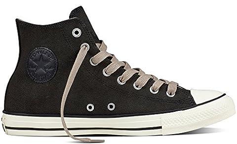 Converse Unisex-Erwachsene Chuck Taylor All Star Hohe Sneaker, Schwarz (Black/Malted/Egret),