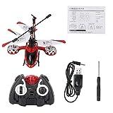 Jouet Hélicoptère Télécommandé 4.5CH Anti-Impact Enfants USB Chargeant Le Modèle d'Altitude RC des Cadeau pour Les Enfants Adultes (Rouge)
