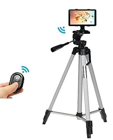 135 Centimètres Professionnel Caméra Trépied support+Bluetooth obturateur déclencheur à distance