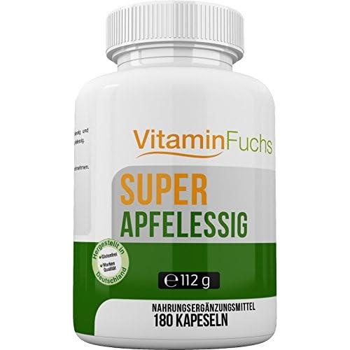 Apfelessig Kapseln Natrlich Und Hochdosiert Ideal Bei Der Stoffwechsel Kur Apfelessig Deluxe 180 Kapseln Von Vitaminfuchs