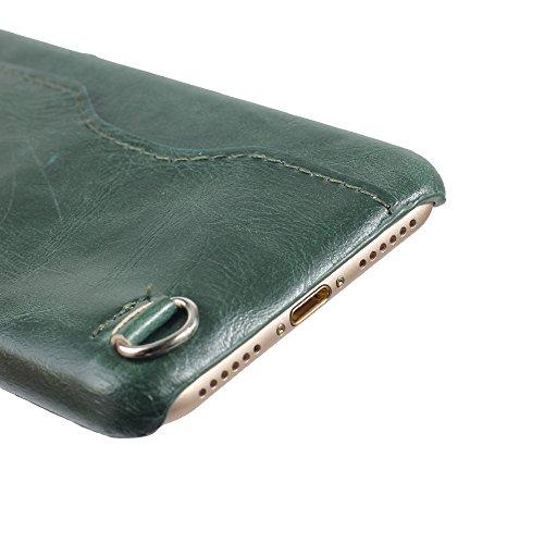 iPhone 8 Hülle, Valenth Card Slot Design Shockproof Slim Fit Schock Widerstand Schutzmaßnahmen zurück Hülle Cover für iPhone 7 iPhone 8 Rosa