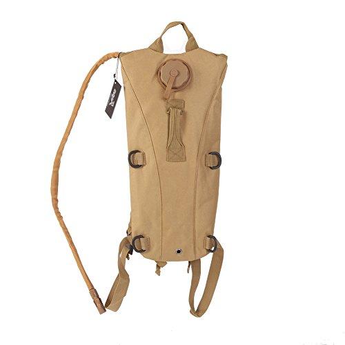 Shiningup Rucksack Hydratation Rucksack Run-Pack mit 3 Liter Wasser Blase Tasche zum Wandern, Laufen, Camping, Klettern, Radfahren, Wandern, Jagd Braun