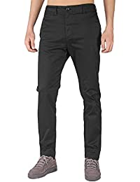 THE AWOKEN Hombre Chino Casual Pantalón Business Wear Slim Fit 3c4d51a2563