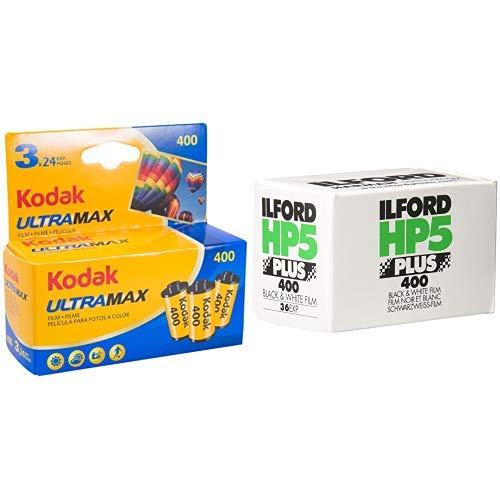 Kodak - 6034052 - Ultramax 400 135/24 (1x3) Film & Ilford 1574577 HP5 Plus 400-27 Schwarz-/Weiß Negativ-Filme