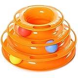 Aidle Pet Tres palancas Torre de las pistas Interactive Cat Juguetes Pet Ball juguetes placa de diversión para uno o más gatos