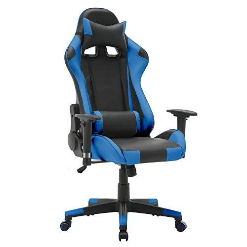 T-LoVendo TY-OC-RC1-BLUE Silla Gaming Oficina Racing Sillon Gamer Despacho Profesional...