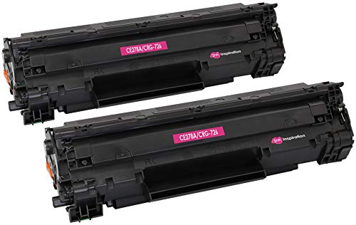 2 INK INSPIRATION® Premium Toner für HP Laserjet Pro P1606 P1606DN P1600 P1560 P1566 M1536DNF M1536 MFP & Canon LBP-6200D LBP-6200DW LBP-6230D | kompatibel zu HP CE278A & Canon CRG 726 | 2.100 Seiten -