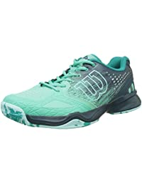 Wilson WRS322450E035, Zapatillas De Tenis Para Mujer, Verde (Electric Green / Reflecting Pond / Arub), 36 1/3 EU